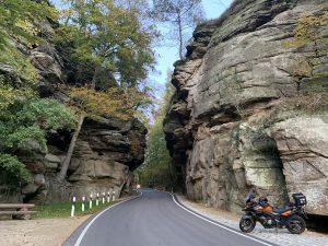 motor prachtig asfalt in Mullerthal Luxemburg