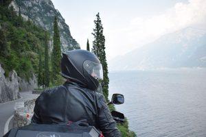 Lago di garda Italië motorrijder